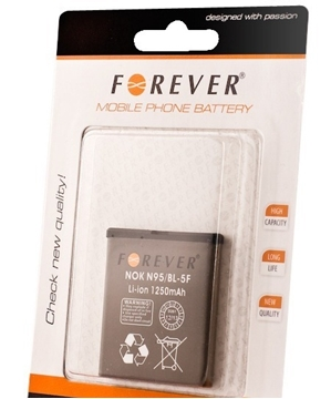 Picture of Battery Forever  BL-5F for Nokia N95 Li-Ion - 1250mAh