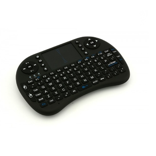 Ασύρματο πληκτρολόγιο OEM Rii i8 2.4GHz RF Wireless Mini  Keyboard with Touch Pad Mouse Black