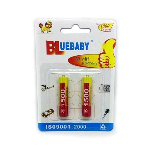 2 Επαναφορτιζόμενες Μπαταρίες ΑΑΑ - Bluebaby NI-MH Battery