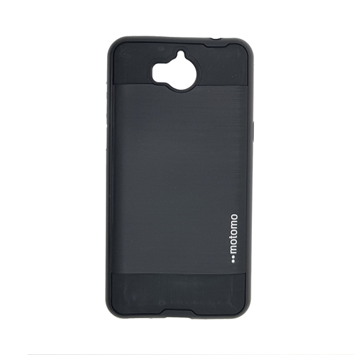 Back Cover Motomo Slim Aluminium Case for Huawei Y5 2017/Y5 III/Y5 3/Y6  2017 - Color: Black