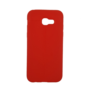 TPU Litchi Case with Leather pattern for iPhone Samsung Galaxy A520 (A5 2017) - Color : Red