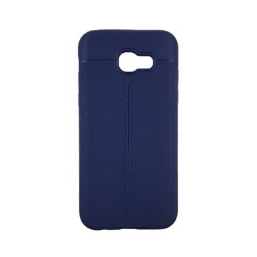 Θήκη TPU Litchi με δερμάτινη όψη για Samsung Galaxy A520 (A5 2017) - Χρώμα: Μπλε