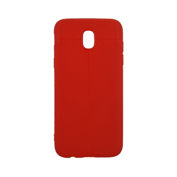 TPU Litchi Case with Leather pattern for Samsung Galaxy J530 (J5 2017) - Color : Red