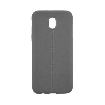 TPU Litchi Case with Leather pattern for Samsung Galaxy J530 (J5 2017) - Color : Grey