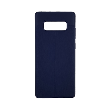TPU Litchi Case with Leather pattern for Note 8 - Color : Blue