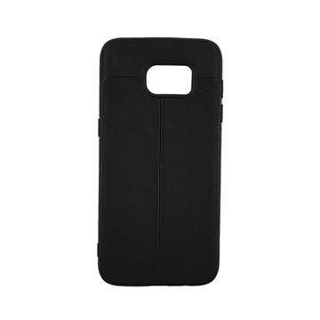 Θήκη TPU Litchi με δερμάτινη όψη για Samsung Galaxy S7 Edge (G935) - Χρώμα: Μαύρο