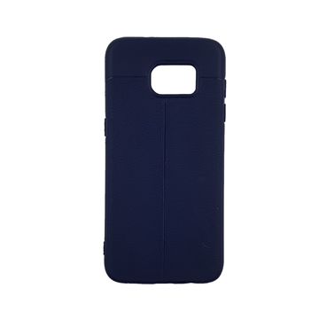 TPU Litchi Case with Leather pattern for Samsung Galaxy S7 Edge (G935) - Color : Blue