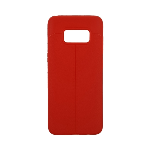 TPU Litchi Case with Leather pattern for Samsung Galaxy S8 (G950) - Color : Red