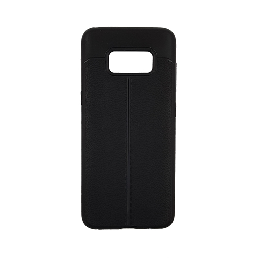 TPU Litchi Case with Leather pattern for Samsung Galaxy S8 (G950) - Color : Black