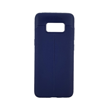 TPU Litchi Case with Leather pattern for Samsung Galaxy S8 (G950) - Color : Blue