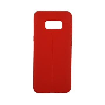 Θήκη TPU Litchi με δερμάτινη όψη για Samsung Galaxy S8 Plus (G955) - Χρώμα: Κόκκινο