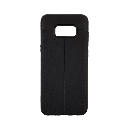 TPU Litchi Case with Leather pattern for Samsung Galaxy S8 Plus (G955) - Color : Black