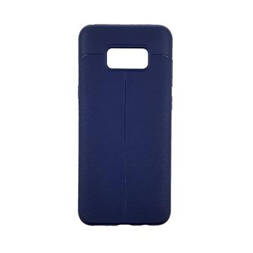 Θήκη TPU Litchi με δερμάτινη όψη για Samsung Galaxy S8 Plus (G955) - Χρώμα: Μπλε