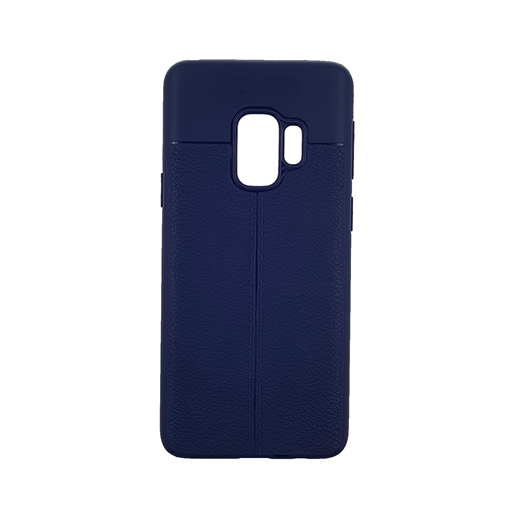 TPU Litchi Case with Leather pattern for Samsung Galaxy S9 (G960) - Color : Blue
