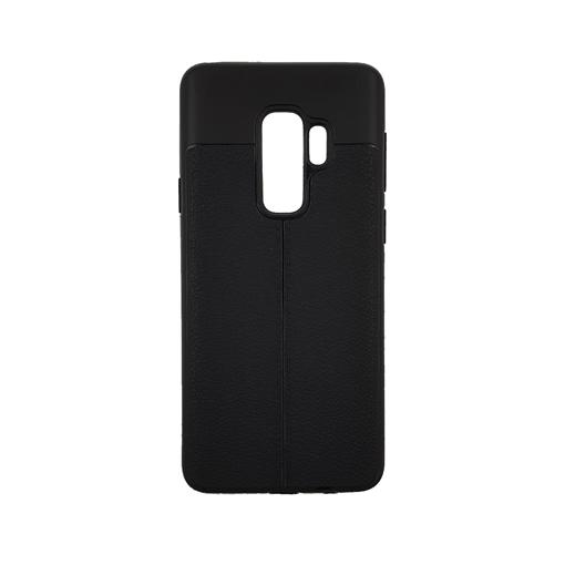 Θήκη TPU Litchi με δερμάτινη όψη για Samsung Galaxy S9 Plus (G965) - Χρώμα: Μαύρο