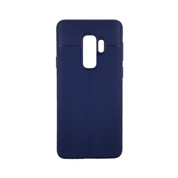 Θήκη TPU Litchi με δερμάτινη όψη για Samsung Galaxy S9 Plus (G965) - Χρώμα: Μπλε