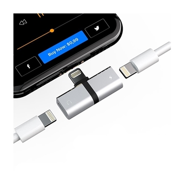 Picture of Lightning Splitter Adapter for iPhone,Dual Lightning Jack, Listen to Music and Charge
