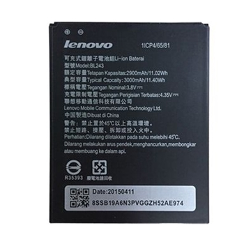 Picture of Battery Lenovo BL243 for A7000/K3 Note/K50/S8/A7600 - 3000 mAh