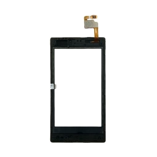 Μηχανισμός Αφής Touch Screen με Πλαίσιο για Nokia Lumia 520 - Χρώμα: Μαύρο