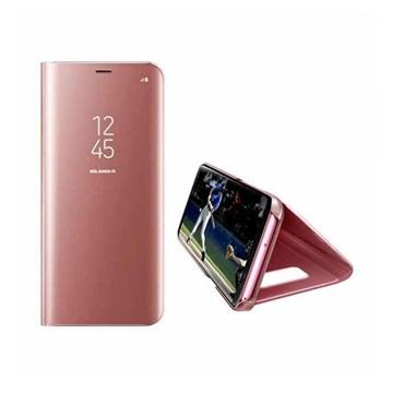 Θήκη Clear View Stand για Xiaomi Redmi Note 7 - Χρώμα: Χρυσό Ροζ