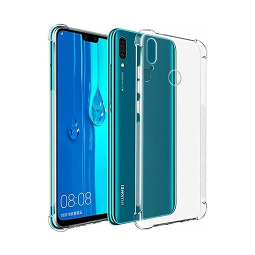 Back Cover Silicone Case Anti Shock 0 5mm for Huawei Y7 2019/Y7 Prime  2019/Y7 Pro 2019 - Color: Clear