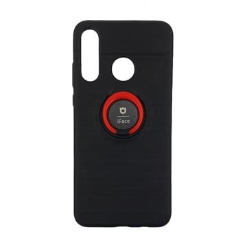 Θήκη Πλάτης iFace Με Βάση Στήριξης για Huawei P30 Lite MAR-L01A - Χρώμα: Μαύρο - Κόκκινο