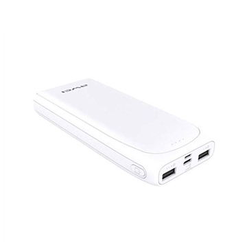 Awei P66K Φορητός Φορτιστής High Capacity Power Bank  USB/USB Type-C Θύρες 20000mAh - Χρώμα: Λευκό