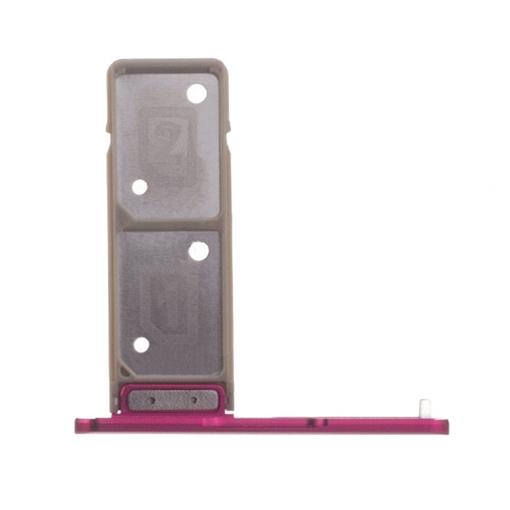 Υποδοχή κάρτας Dual SIM Tray για Sony XA1 Ultra / Plus - Χρώμα: Ροζ