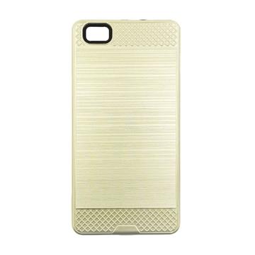 Θήκη Πλάτης Tough Brushed Cover για Huawei P8 Lite - Χρώμα: Χρυσό
