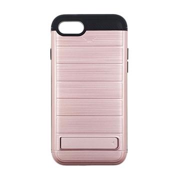 Θήκη Πλάτης Brushed Hard Armor για Apple iPhone 7/8 - Χρώμα: Ροζ
