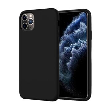 Θήκη Πλάτης Σιλικόνης Matte για Apple iPhone 11 Pro - Χρώμα: Μαύρο