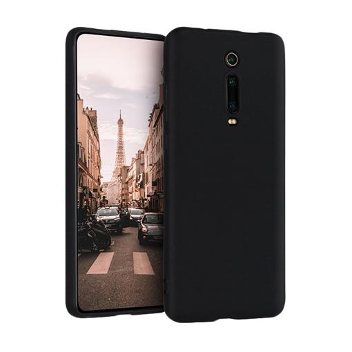 Θήκη Πλάτης Σιλικόνης Matte για Xiaomi Mi 9T/9T Pro/Redmi K20/K20 Pro - Χρώμα: Μαύρο