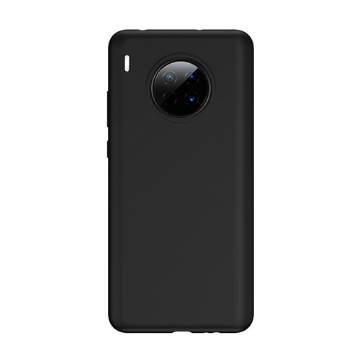 Θήκη Πλάτης Σιλικόνης Matte για Huawei Mate 30 - Χρώμα: Μαύρο