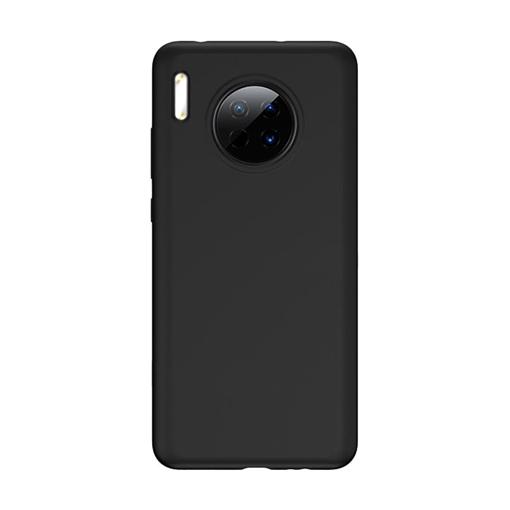 Θήκη Πλάτης Σιλικόνης Matte για Huawei Mate 30 Pro - Χρώμα: Μαύρο