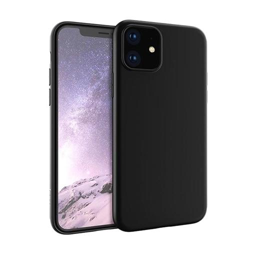 Θήκη Πλάτης Σιλικόνης Matte για Apple iPhone 11 - Χρώμα: Μαύρο