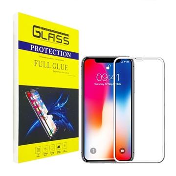 Προστασία Οθόνης Tempered Glass 9H/5D Full Glue Full Cover 0.3mm για Apple iPhone X/XS/11 Pro - Χρώμα: Λευκό