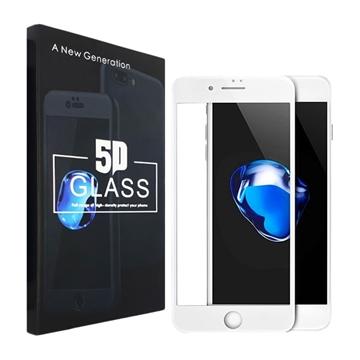 Προστασία Οθόνης Tempered Glass 9H/5D Full Glue Full Cover 0.1mm για Apple iPhone 6/6S - Χρώμα: Λευκό
