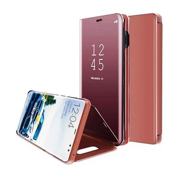 Θήκη Clear View Stand για Xiaomi Redmi Note 8 Pro - Χρώμα: Χρυσό Ροζ