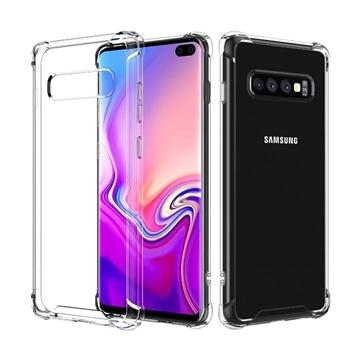 Θήκη Πλάτης Σιλικόνης Anti Shock 0.5mm για Samsung G975F Galaxy S10  Plus - Χρώμα: Διάφανο