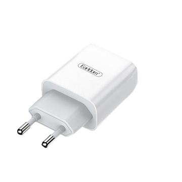 Εικόνα της EARLDOM ES-196 Διπλός φορτιστής USB με Καλώδιο Micro-USB - Χρώμα: Λευκό
