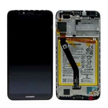 Εικόνα της Γνήσια Οθόνη LCD με Μηχανισμό Αφής και Πλαίσιο και Μπαταρία  για Huawei Y6 2018 (Service Pack) 02351WLJ - Χρώμα: Μαύρο