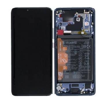 Εικόνα της Γνήσια Οθόνη LCD με Μηχανισμό Αφής και Πλαίσιο και Μπαταρία  για Huawei Mate 20 Pro (Service Pack)  02352GFX - Χρώμα: Μπλε