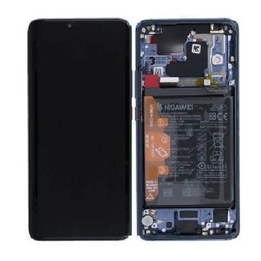 Γνήσια Οθόνη LCD με Μηχανισμό Αφής και Πλαίσιο και Μπαταρία  για Huawei Mate 20 Pro (Service Pack)  02352GFX - Χρώμα: Μπλε