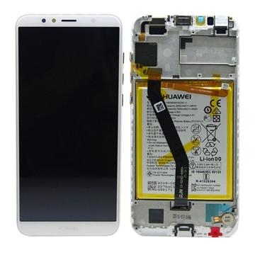 Εικόνα της Γνήσια Οθόνη LCD με Μηχανισμό Αφής και Πλαίσιο με Μπαταρία για Huawei Y6 2018 (Service Pack) 02351WLK - Χρώμα: Λευκό