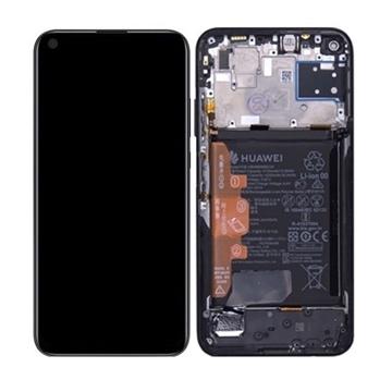 Εικόνα της Γνήσια Οθόνη LCD με Μηχανισμό Αφής και Πλαίσιο με Μπαταρία για Huawei P40 Lite 2020 (Service Pack) 02353KFU- Χρώμα: Midnight Black