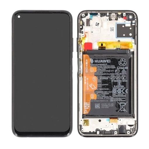 Γνήσια Οθόνη LCD με Μηχανισμό Αφής και Πλαίσιο με Μπαταρία για Huawei P40 Lite 2020 (Service Pack) 02353KFV - Χρώμα: Breathing Crystal